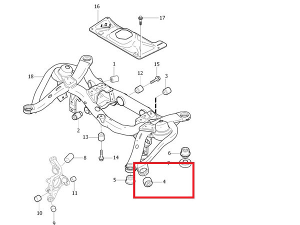 volvo s40 rear suspension diagram