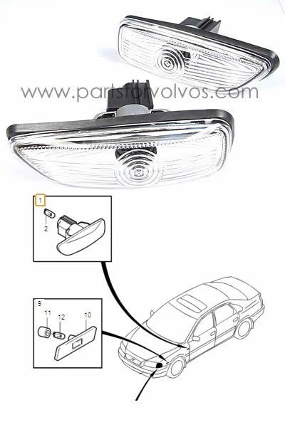 Indicator Side Marker Lamp // Light // Lens Volvo V70//V70XC Left 00-08