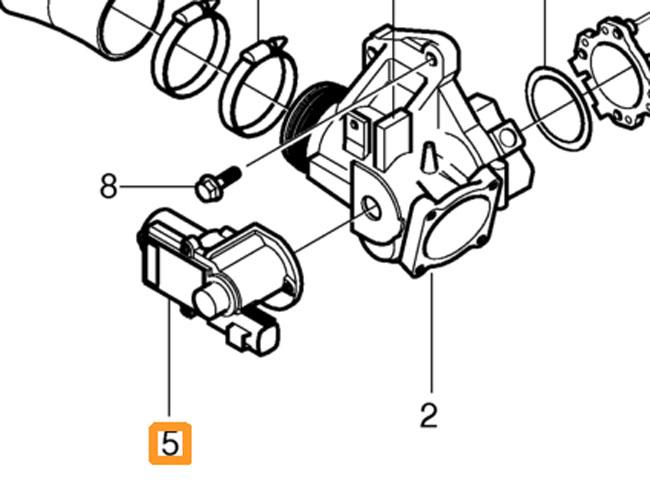 S60v70ii 06 08 D52 4d Egr Valve Stepper Motor