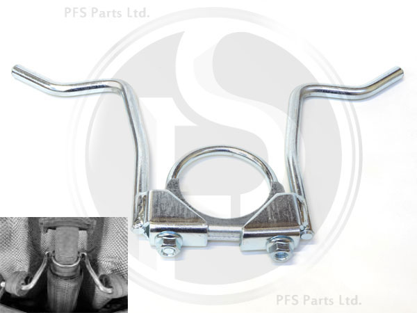 XC70 II V70 III 08- Middle Exhaust Repair Clamp //Bracket 60mm Volvo S80 II