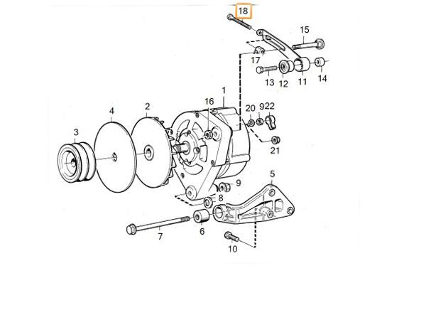 volvo 240 alternator wiring volvo 240  360  740 1985 1993 b200 b230 alternator adjusting bolt  b200 b230 alternator adjusting bolt